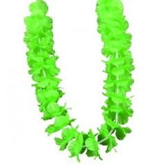 Collier Hawai fleurs tissu Vert Tropical 0,57 €