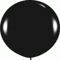 Ballon uni diam. 90 cm noir l'unité