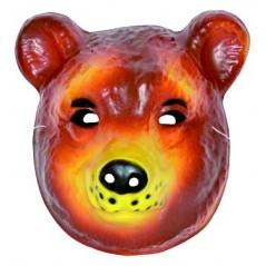 Masque ours moyen modèle plastique rigide