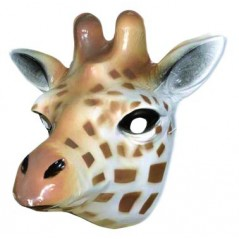 Masque Girafe moyen modèle plastique rigide