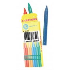 Crayons de cire 8 cm (bte de 4) Pêche mixte 0,20 €