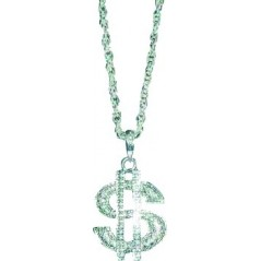 collier dollar metal argent
