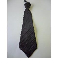 Cravate à sequins tissu Noire