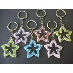 Porte-clé étoile glitter - l'unité