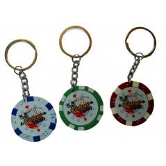 idéal pour une Poker partie, ce porte-clés jeton de poker