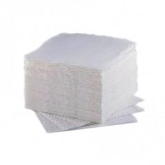Paquet de 100 serviettes blanches 1 feuille 29 x 29 cm