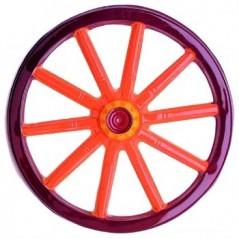 Roue de chariot plastique 3 D 50 X 50 cm