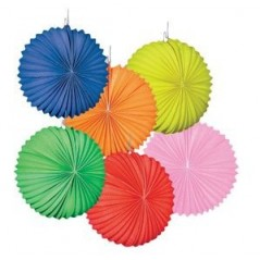 Lampion ballon, uni couleurs assorties diam 22 cm l'unité