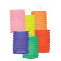 Lampion cylindrique diam 13 cm couleurs assorties l'unité