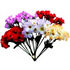 Bouquet de 25 brins fleurs tissu 23 cm Hippie 0,99 €