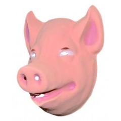 Masque Cochon moyen modèle plastique rigide