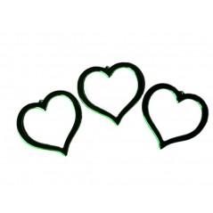 Coeur métal découpé - PM 8 * 7 cm Lot de 3