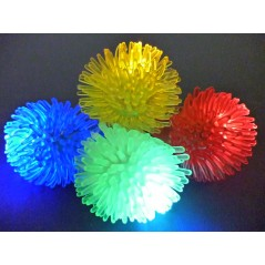 Bague lumineuse silicone hérisson couleurs ass