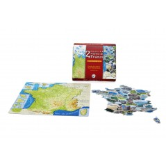 Puzzles carte de France 23*19*4 coffret de 2
