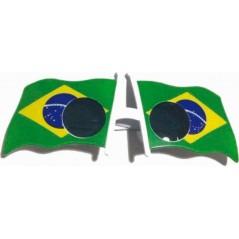 Lunettes avec drapeau brésilien