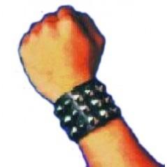 Bracelet à clous triple 23 X4 cm