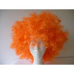 Perruque disco folle Orange