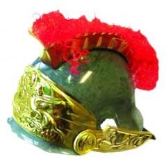 Casque romain PVC crête rouge