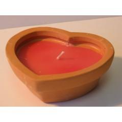 Bougie forme cœur - parfumé