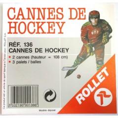 Cannes pour hockey (les 2)