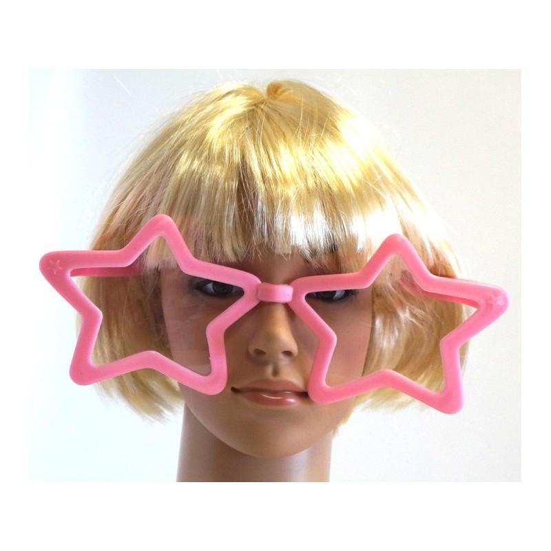Lunette étoile géante rose, lunette fantaisie géante pour vos soirées roses, ou autre soirée à thème
