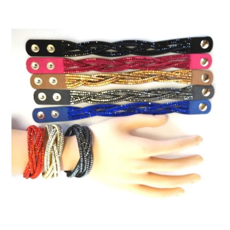 Bracelet tendance torsadé avec strass Accessoires 1,54 €