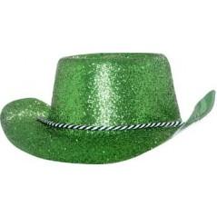 Chapeau Cow-boy Pailleté Vert