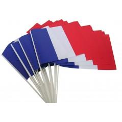 Drapeau tricolore Tissu 21 x 14 cm cm le cent