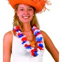 Collier hawaii fleurs tissu Tricolore France / Supporters 0,63 €