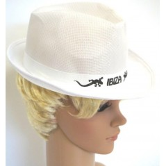 Chapeau Ibiza tissu blanc Chapeaux 1,99 €