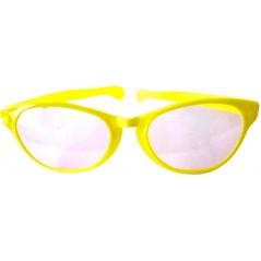 Lunettes géantes jaune avec verres