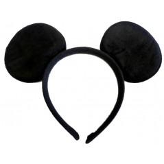 Serre tête souris noir en velours Accessoires 0,90 €