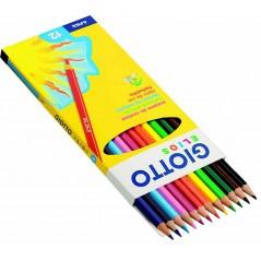 Crayons couleurs 18 cm étui de 12 Crayons et Feutres 2,26 €