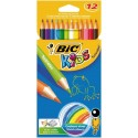 Etui 12 crayons couleurs assorties Tropicolors