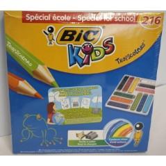 Boite de 216 crayons couleurs assorties Tropicolors