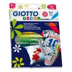 Etui 12 feutres Textile Giotto