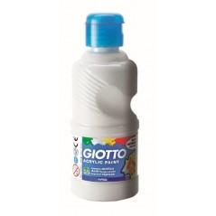 Flacon 500 ml peinture acrylique omya. blanc