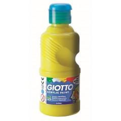 Flacon 500 ml gouache acrylique omya jaune