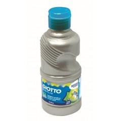 Flacon 250 ml gouache acrylique omya. argent