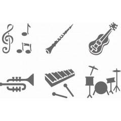Pochette de 6 Pochoirs musique Pochoirs 4,08 €