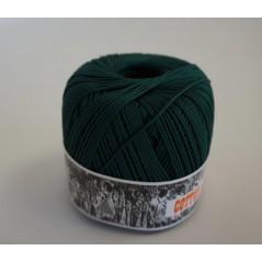 Pelote 50 g coton perlé vert foncé