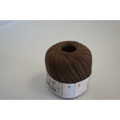 Pelote 50 g coton perlé marron