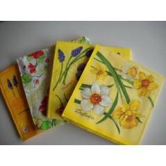 Paquet 20 serviettes papier assortis par thème FLEURS