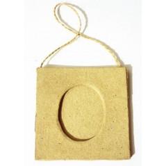 Mini cadre carré 75 x75 mm avec porte photo oval