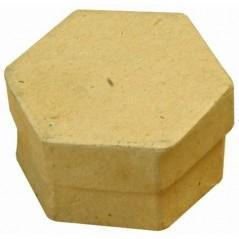 Boite carton simple hexagonale 78 hauteur 50 mm