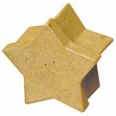 Boîte carton étoile 80 x 50 mm