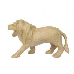 Lion papier maché 12 cm env