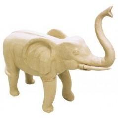 Eléphant en papier maché 12 cm