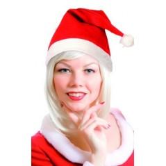 L'incontournable bonnet de noel pour vos soirées de fin d'année. Bonnet en feutrine simple.