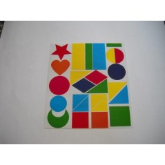 Pochette 44 Maxi Gommettes formes et couleurs assortis